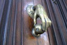 knobs & knockers / Door knobs and door knockers.