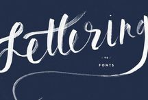 Type, fonts and lettering / Hand lettering, fonts, typography