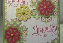triple flower punch cards / I own this punch