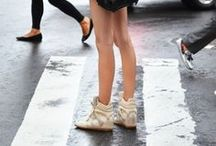 Sneaker wedge outfits / by Jille Pille