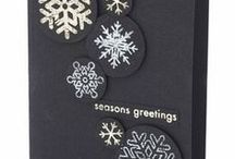 snowflake cards / xmas cards / by Luella Dueck