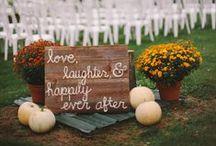 Fall Wedding Ideas / Colorful ideas for a fall wedding!
