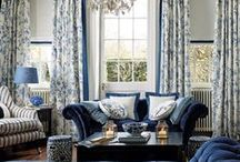 China Blue Collection / Classic and timeless this collection takes inspiration from delicate blue and white china. Our iconic Summer Palace print debuts in royal blue, making a bold statement today that you'll love forever. / by Laura Ashley USA