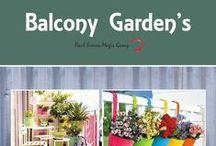 London Garden Balcony Ideas / Ideas for a colourful balcony garden.