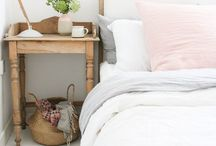 Bedroom / I love clean sheets! Style your bedroom with a pretty bed, crispy sheets, soft blankets and coverlets.
