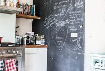 Chalkboard / Chalkboard gives your home a little bit more! Let your kids draw on it or use it for a quote or your not-to-forgets...