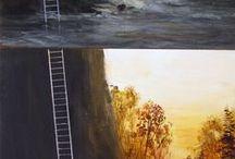 Art = Oils, pen & ink, illustrations, sculpture, glass......