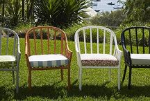 Alboo Faux Bamboo / Faux bamboo furniture constructed from lightweight aluminium for permanent external use. Choose from any Dulux Powder Coat colour.