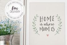 Mother's Day Art Prints Mrs Best Collection / Unique Gift Ideas for Mother's Day. Beautiful art prints and personalised gifts.