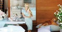 Pamela Anderson's Shabby Chic Home