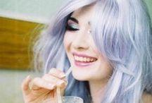 Pastel hair / blue-purple-green...