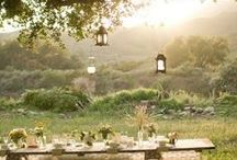Living Outdoors / ideas for outdoor rooms, garden parties, dinner under the stars