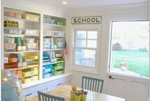 Homeschool Rooms / Inspiration for your homeschool room including homeschool room decor, homeschool curriculum organization, and homeschool supply organization.