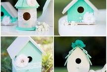 DIY Wedding / Wedding decor ideas for a seafoam green (teal, turquoise, aqua, mint) and grey DIY wedding. Vintage bird themed garden wedding.  Our wedding has come and gone, but hopefully someone else can benefit from all these pins and enjoy planning just as much as I did!!! <3 <3 <3