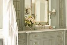 powder room & bath ♤ / by Jean Strong [Rosecliff & Sommerset]