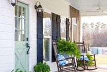 Exterior Home Inspiration / Front yard ideas | Curb appeal | Exterior decor ideas