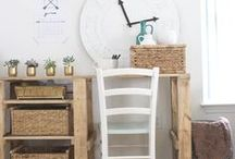 Craft Room & Office Inspiration / Craft room and home office organization and decor ideas