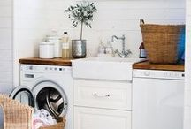 Laundry Room Inspiration / Laundry room decorating and organizing ideas | Laundry room makeovers | Laundry room storage | DIY laundry hampers