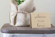 Guest Room Inspiration / How to make guests feel welcome | Be our guest | Ideas for hosting guests | Guest bedroom decor | Guest room baskets and carts | Guest room essentials | Combined guest room and office inspiration