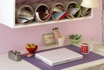 ORGANIZE + HOME OFFICE / Organizing ideas and products for your home office and paper management.