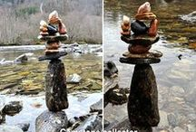 Nature art, balance stones and happenings / I need to do this. Its fun, and left in nature when I leave, waiting to go back to nature. Images start from my first week trying to balance stones till.. ? Follow me at http://www.facebook.com/trollsmeden   http://www.trollsmed.com