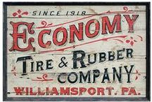 hand-painted + old signs