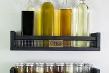 Pantry Inspiration / Pantry organization and decor ideas for rustic, industrial, or farmhouse style | Pantry storage | DIY Spice racks