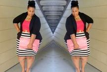 Orobo Girl Beautiful in Horizantal Stripes / Horizantal Stripes Don't have to be unflattering on Orobo (big) Girls