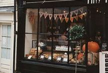 store fronts, windows, and displays