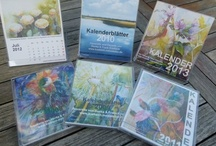 our calendar 2012 / Every year we create a #calendar with a selection of #watercolors and #pastels.