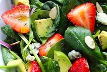 Recipes for/ Salads & Dressings! / salads, dressings, fruit salad, jello salad, marinated vegetables, recipes, sides, fresh vegetables, fresh fruit,  / by Terri Miller