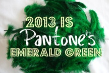 Emerald, Pantone's 2013 Color Of The Year! / a riff on rich greens that strike me as emerald! / by Dana Claudat