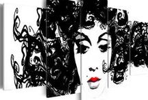 Black&white Prints / Dekoracje w stylu monochromatycznym stanowią idealnie dopełnienie każdej aranżacji wnętrz