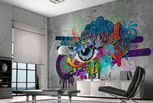Graffiti Decor / Idealne dekoracje ścienne dla charakternych osób, które pragną nadać wyrazistości domowym wnętrzom