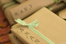 Wrapping gifts / Because the wrapping can be as lovely as the gift