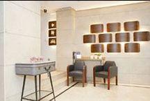 hotel sauce  / diseño y creacion de distintos especios ,en el hotel SAUCE situado en el centro de zaragoza,cafeteria ,recepcion ,sala multifunciona para reuniones y eventos ,hall,lamparas, mesas, estanterias,casillero