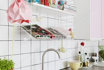 Kitchen & dining room / Kitchens with fun ideas, DIY:s, lots of color and pastels. Retro and vintage style kitchen.