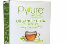Pyure Products / At Pyure Brands, we believe in creating stevia products that are truly different. This belief led us to create the first certified organic stevia sweetener, as well as the first stevia syrup. We want to provide innovative solutions, not the same old thing.   Keep an eye out for exciting new products from Pyure as we change the way people think about stevia and how to  incorporate it into a healthy lifestyle - and depend less on sugar and artificial sweeteners!