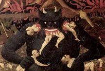 """""""Mea maxima culpa""""-->This isn't a catholic board<-- / """"Los pilares de la tierra"""" // """"The Pillars of the Earth"""" // ARTE SACRO / SACRED ART - I love art, too sacro art, but this board is too a personal critique to Catholic Church. Me encanta el arte, también el arte sacro, pero este tablero es una crítica personal a las iglesias y su continua y loca contradicción. Los pilares de la tierra: uno de los pilares del miedo y la mentira en el mundo. DOLOR (Pain), CULPA (blame) Y ORO (and Gold). The really first sinister art.  / by Mar Cantón (OcéanoMar)"""