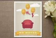 Moving - New Home / Moving announcements, housewarming invitations, etc. / by Happy Everything Design