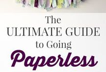 Going Paperless / How to go paperless to increase productivity and reduce clutter.
