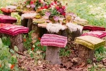 Small Gardens / Inspiration for the small garden spaces I have