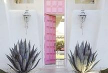 SPACES: Front doors / We can't go past these beautiful doors & entryways with international flavour. Make an entrance!
