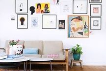 DECORATING: How to hang art / We know gallery walls can be hard. Create a wondrous wall of art with our inspirational collection of references.