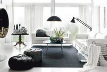 COLOUR: Black & white / Classic black & white is an enduring combination in interiors. We love the crispness & contrast. Eternally chic.