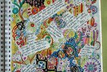 ♡LOVE: Journaling and Art Making / Journal writing, drawing, collaging, scrapbooking, painting, art journal, smashbooking tips/ideas, etc etc.
