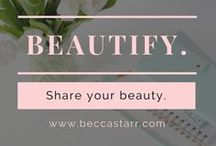 Beautify / Whether it's your home or your body - it's up to us to beautify our temples. After many years in the spa & wellness field, I LOVE sharing ideas for how to love our bodies and create beautiful environments. I hope you enjoy these as much as I do!