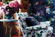 WE LOVE: Florals / We follow the latest trend blossoming from the catwalk to magazines around the world: florals. From statement prints and watercolour whimsy to sprigged wallpaper used in new ways, this is a look we love.