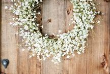 CHRISTMAS: Wreaths / Decorate your door this year with a beautiful wreath - will you choose living or faux flowers and foliage, or take on a crafty project. Get creative!