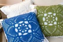 CROCHET KRAZY~Home Decor~Throw Pillow, Chair Pads, etc / by Donna Medley